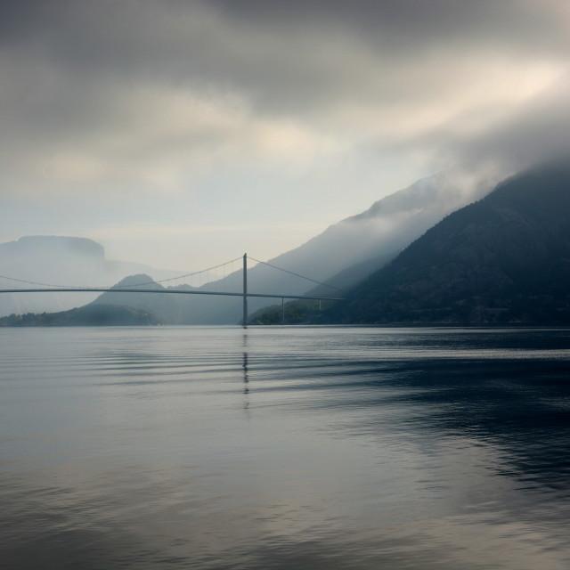 """""""Hardanger Bridge"""" stock image"""