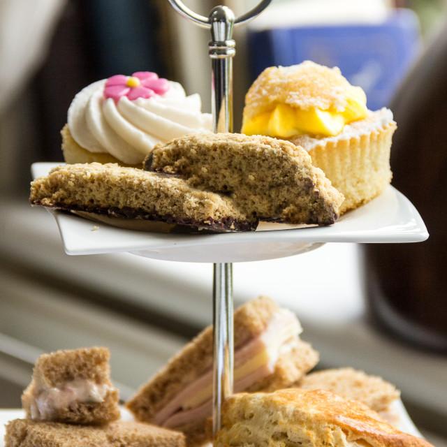 """Afternoon Tea Platter"" stock image"