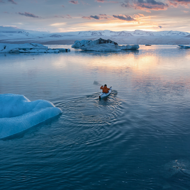 """chillin on the ice lagoon"" stock image"