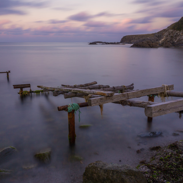 """""""An old pier at the sea"""" stock image"""