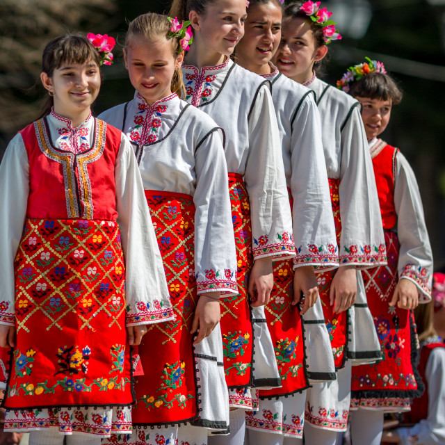 """""""Children initiating a traditional dance"""" stock image"""