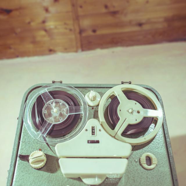 """Old vintage tape recorder"" stock image"