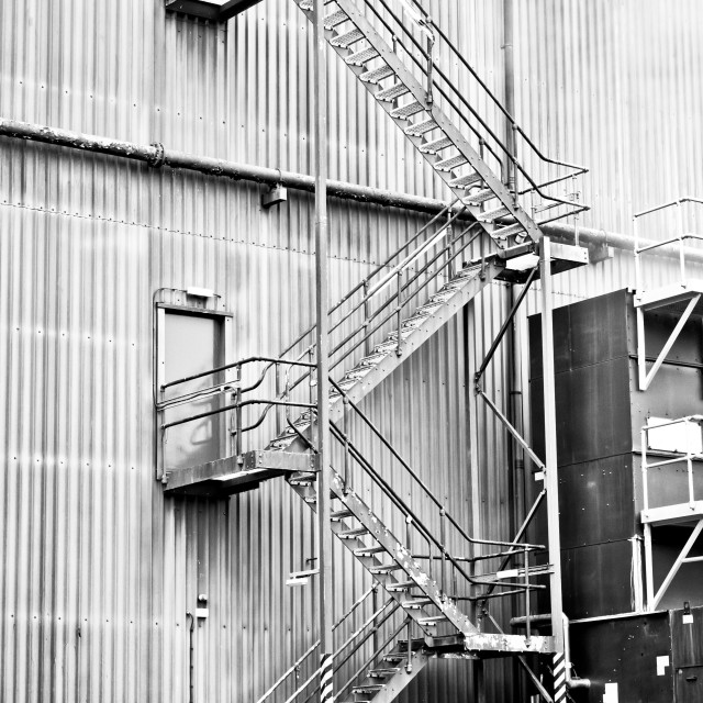 """Factory steps"" stock image"