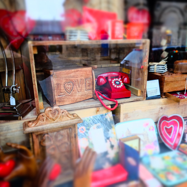 """Shop window with fancy goods (wide 1)"" stock image"