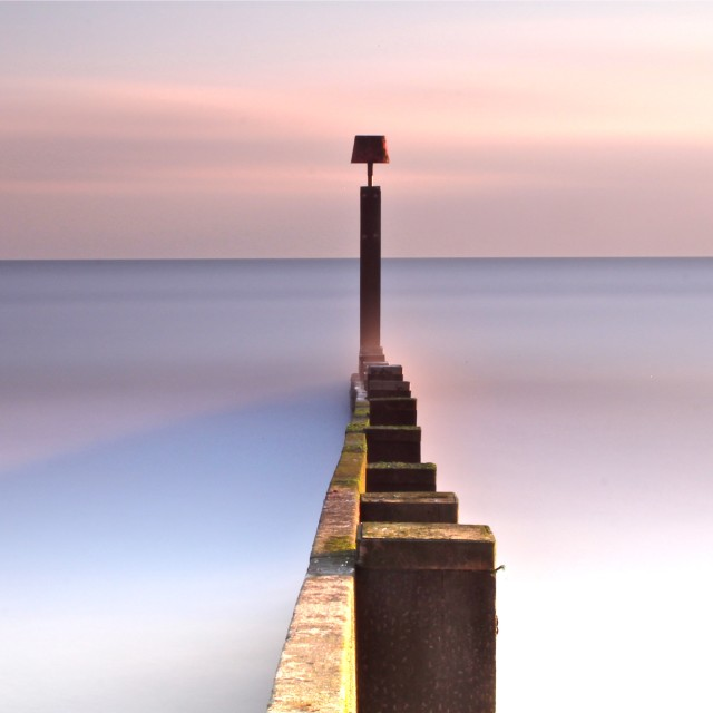 """Misty Sea"" stock image"