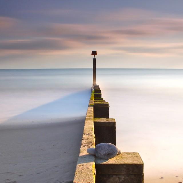"""Beach Groyne"" stock image"