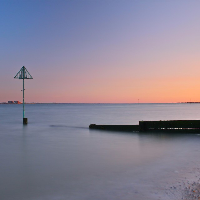 """West Mersea Sunset"" stock image"