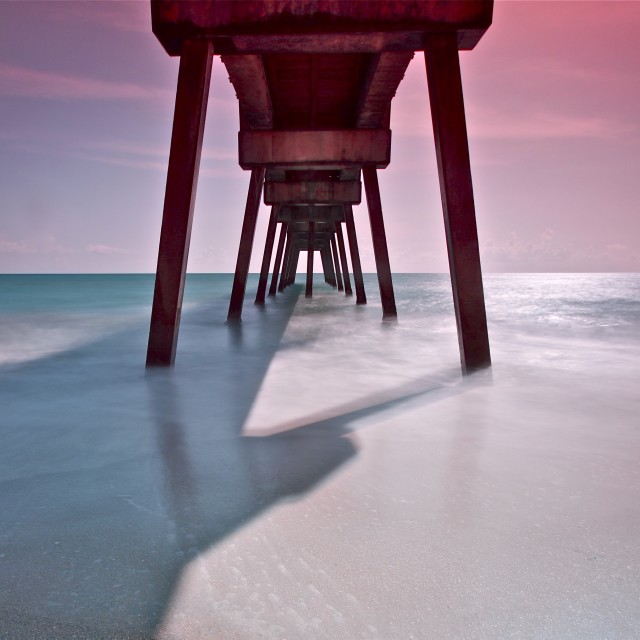 """Vero Beach Pier, Florida"" stock image"