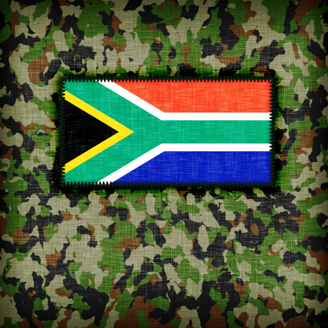 """Amy camouflage uniform, South Africa"" stock image"