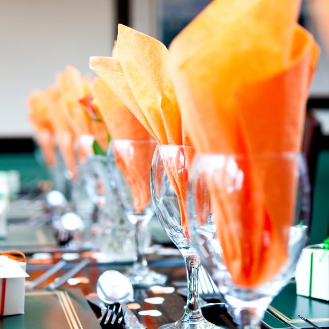 """Orange Napkins"" stock image"