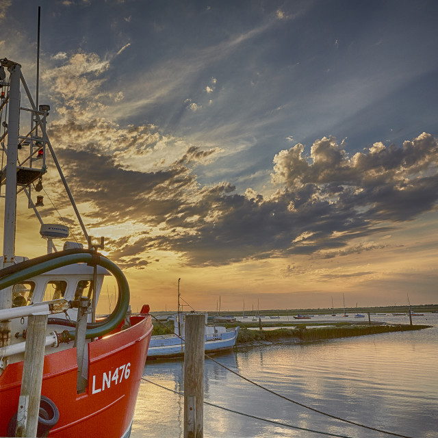 """Brancaster Staithe harbour"" stock image"