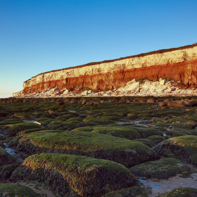 """Old Hunstanton cliffs"" stock image"