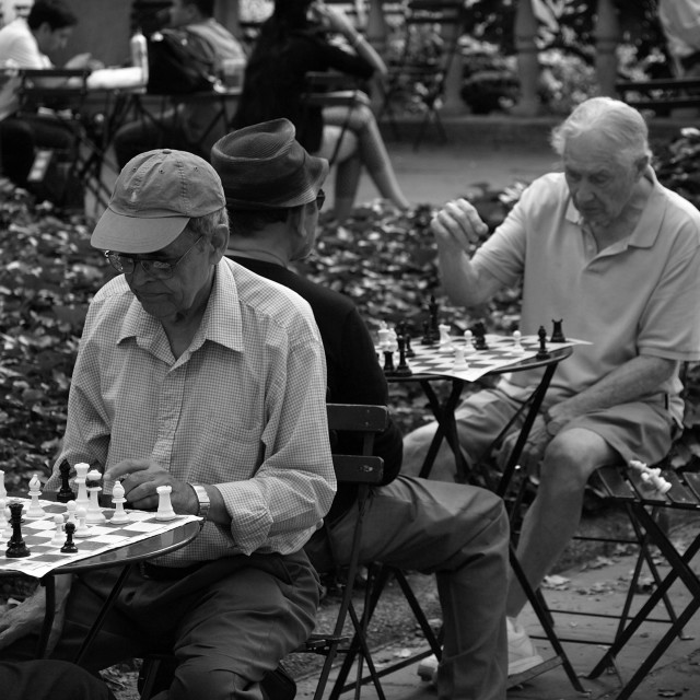 """Chess in the Park"" stock image"