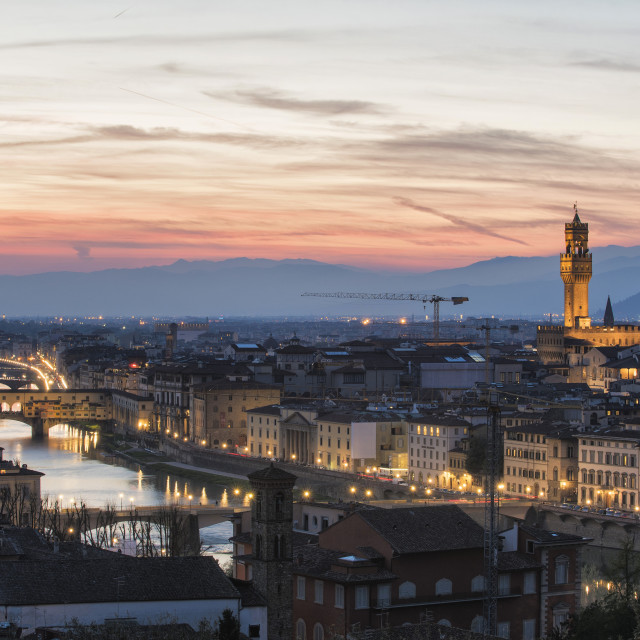 """""""Florence at sunset"""" stock image"""