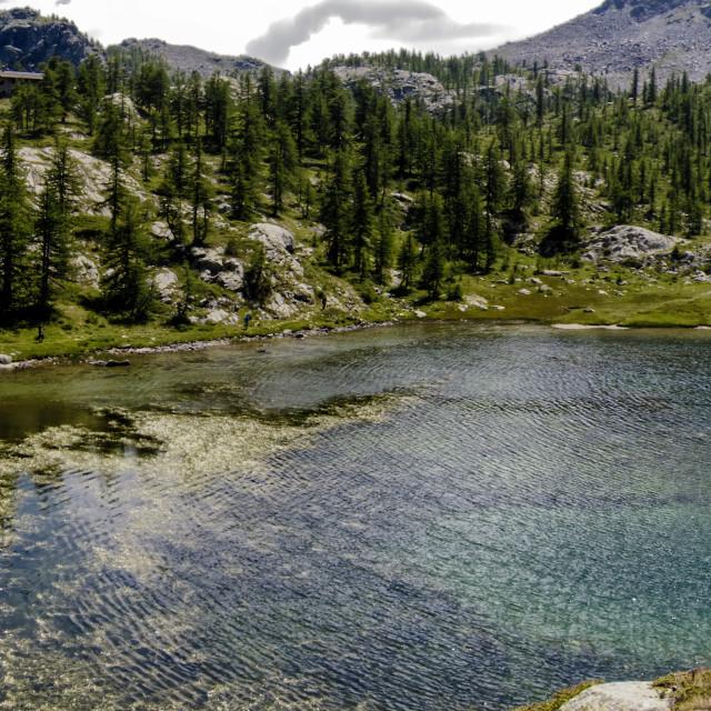 """In the Lake - Mont Avic Regional Park"" stock image"