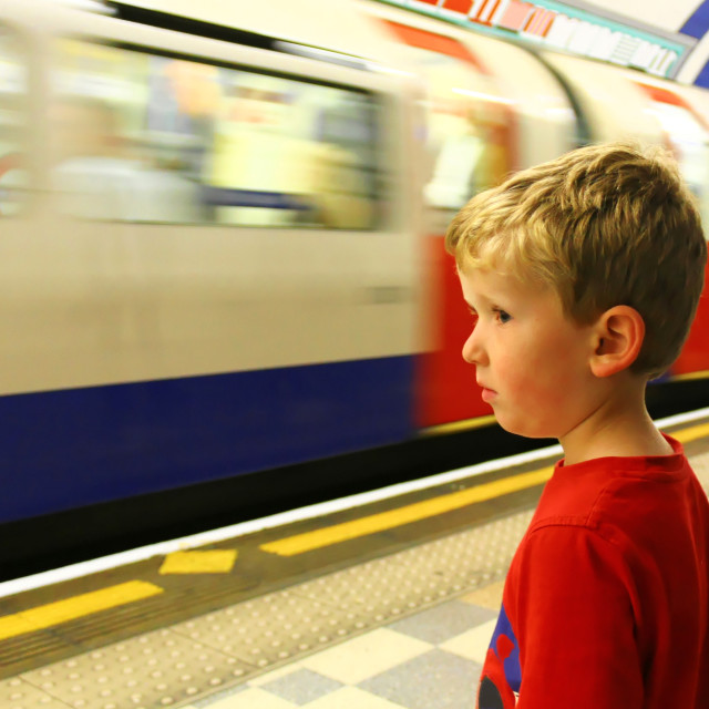 """London Underground Train"" stock image"