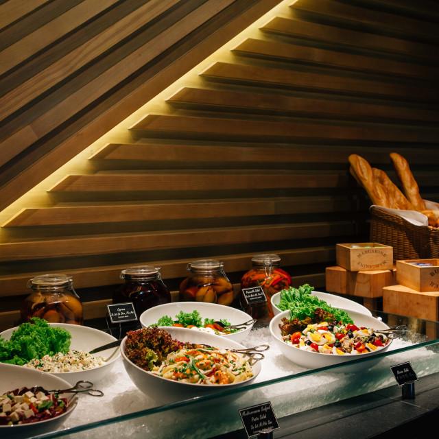 """Salad Buffet"" stock image"