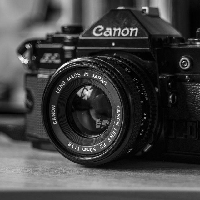 """Canon A-1 35mm Film SLR"" stock image"