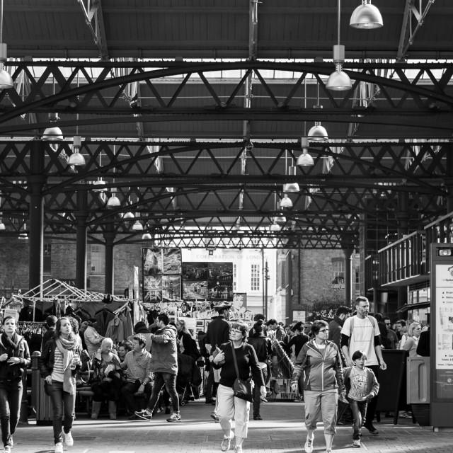 """Spitalfield Market"" stock image"