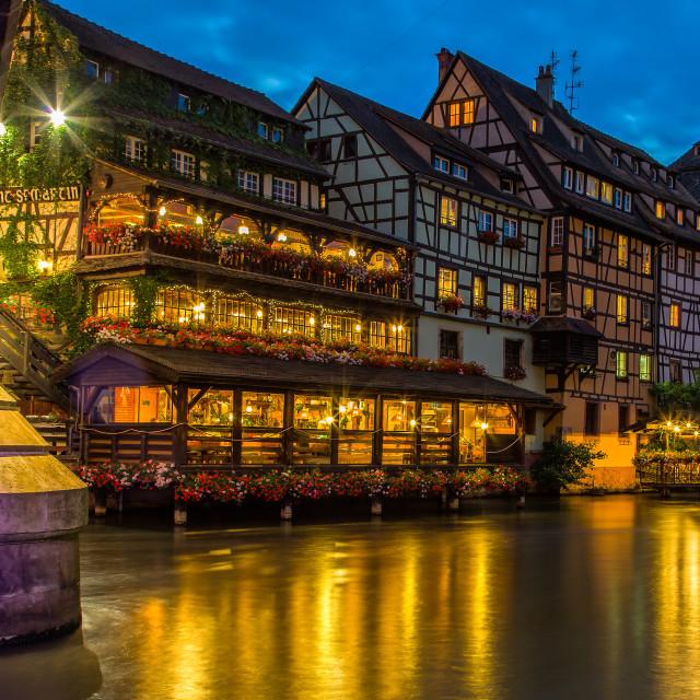 """Strasbourg night"" stock image"