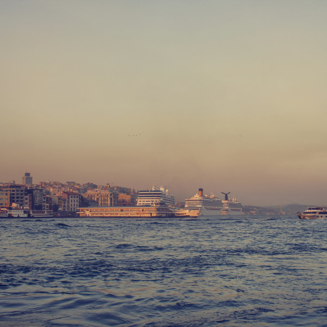 """Sunset on the Bosporus"" stock image"
