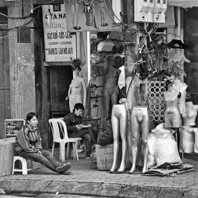 """HANOI STREET LIFE"" stock image"