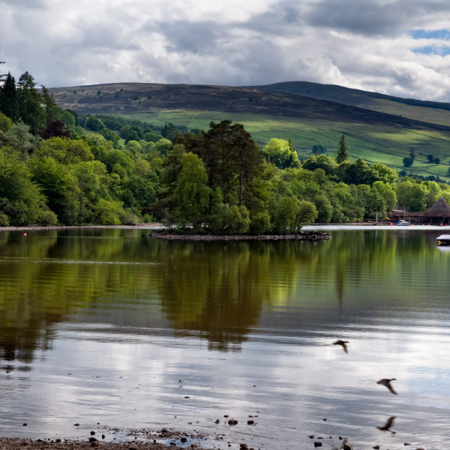 """Panoramic of Loch Tay, Scotland"" stock image"