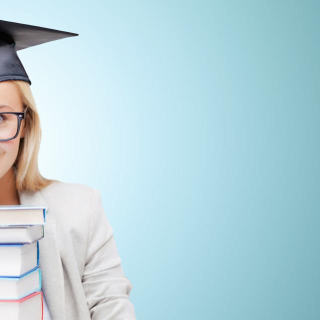 """student in graduation cap"" stock image"
