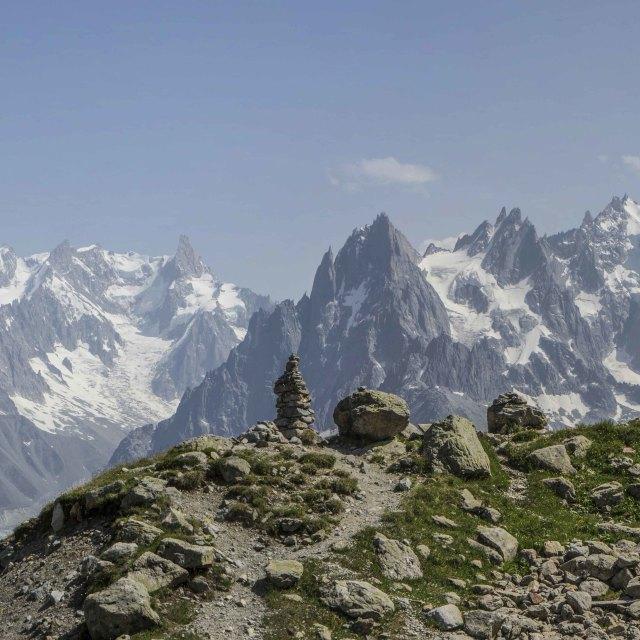 """""""Chaine du Mont Blanc - Alps"""" stock image"""