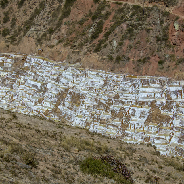 """Salt mines in Peru"" stock image"