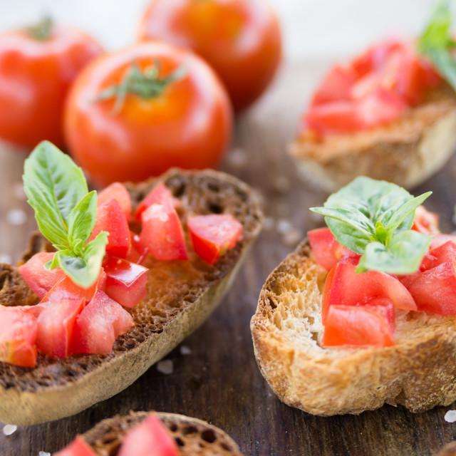 """Italian bruschette"" stock image"