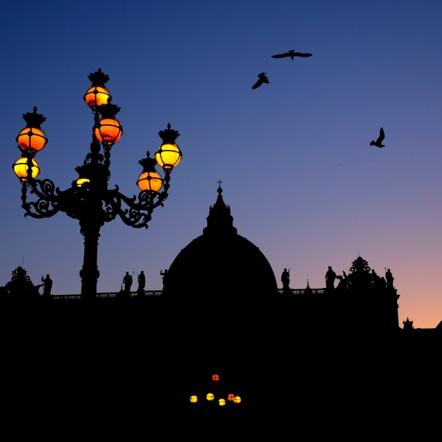 """Saint Peter at dusk"" stock image"