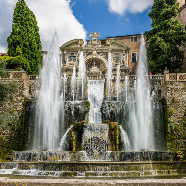 """Villa D'Este Fountains"" stock image"