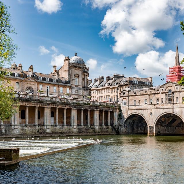 """River Avon, Bath, Somerset, England"" stock image"