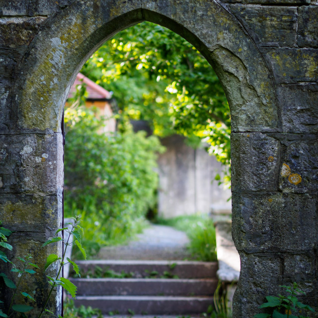 """""""Through the arch"""" stock image"""