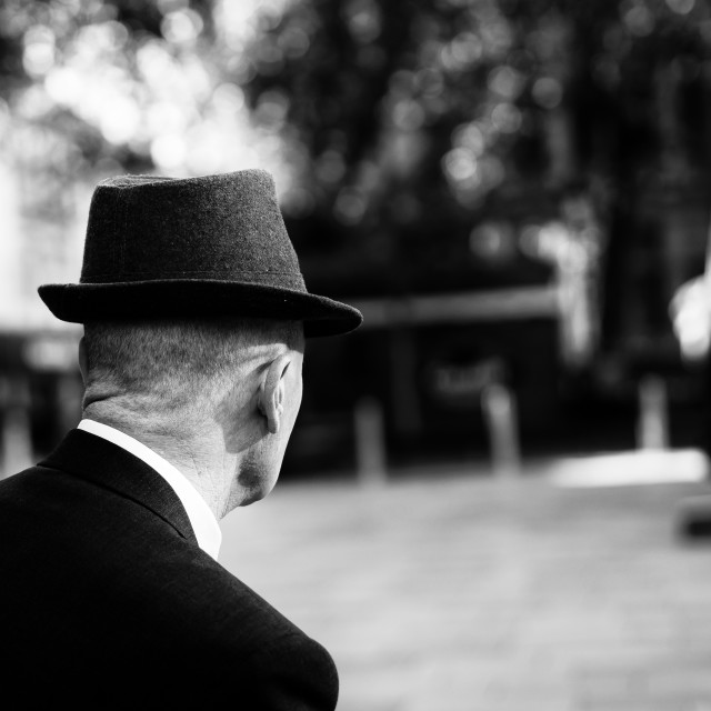 """Man in hat"" stock image"