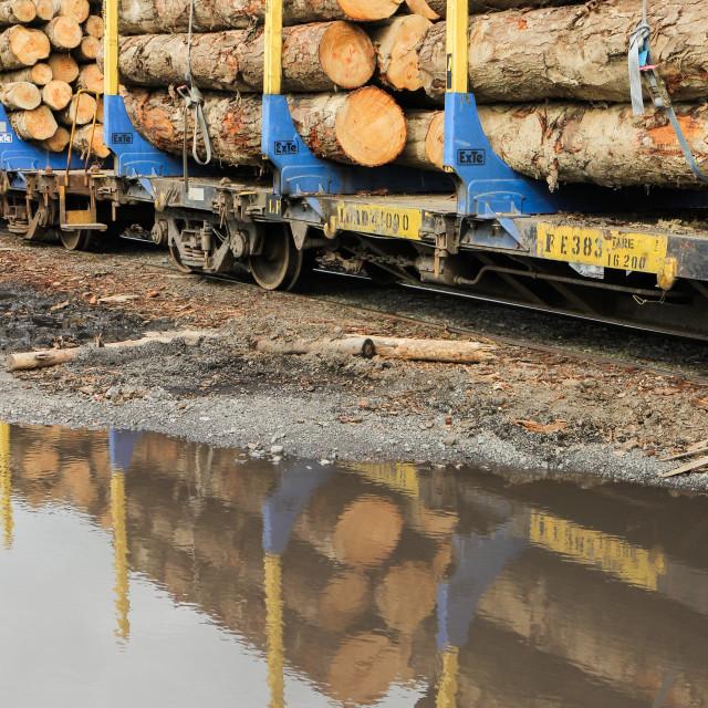 """""""log wagons"""" stock image"""