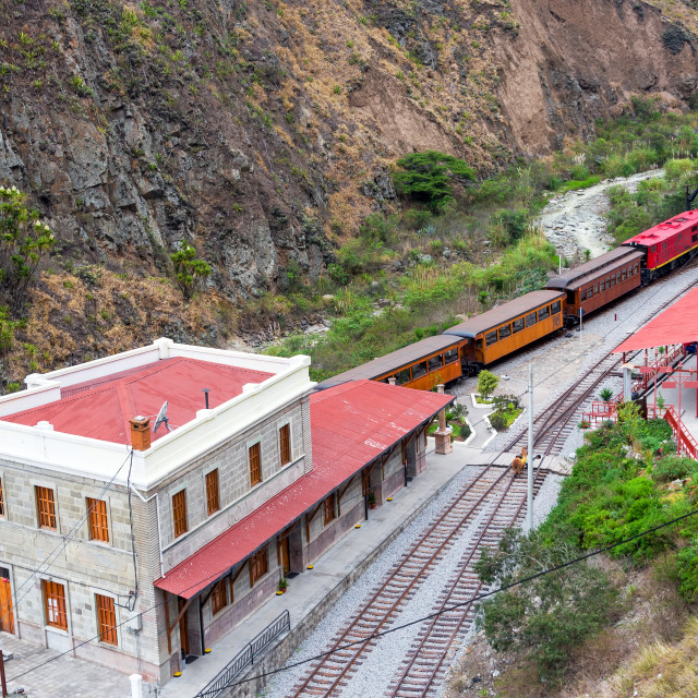 """Ecuador Train Station"" stock image"