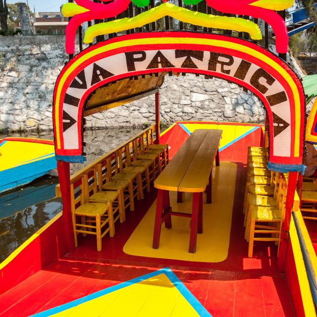 """""""Xochimilco Colors"""" stock image"""
