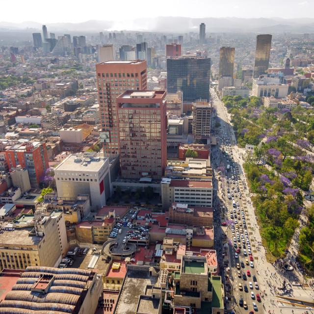 """Mexico City Cityscape"" stock image"