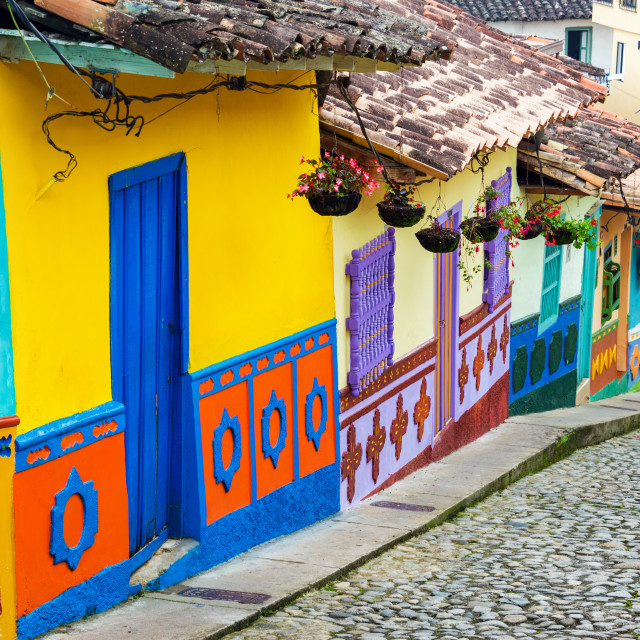 """""""Colorful Street"""" stock image"""
