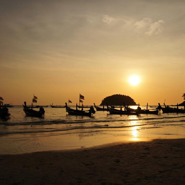"""""""Phuket Sunset"""" stock image"""