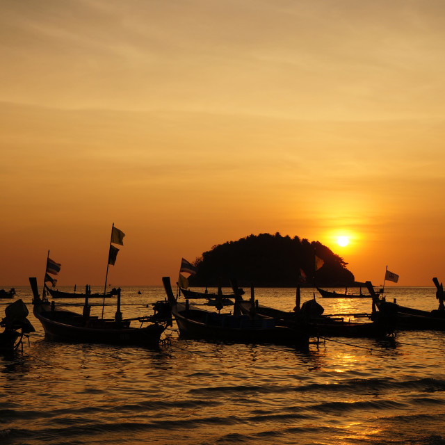 """""""Sunset Phuket"""" stock image"""