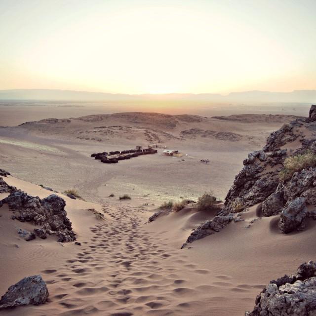 """""""Sunset in Moroccan desert"""" stock image"""