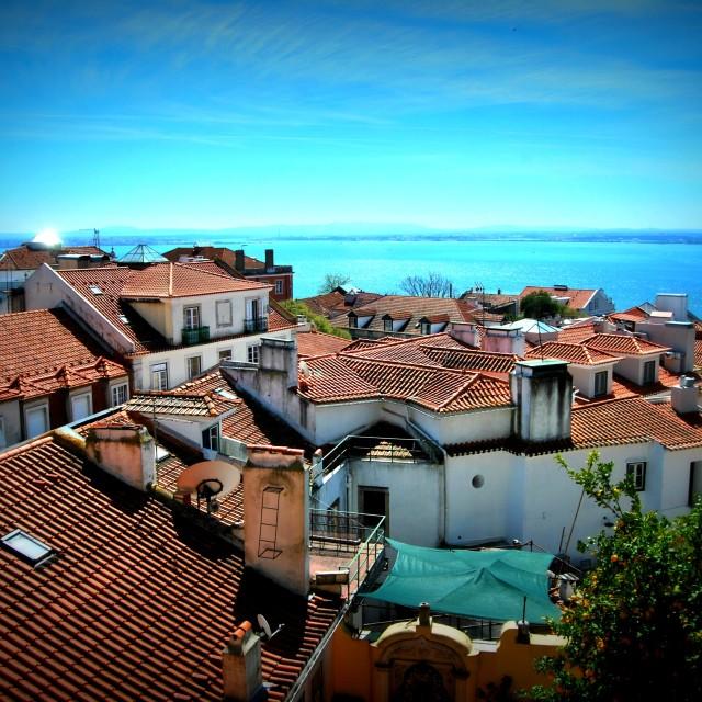 """Rooftops of Lisbon"" stock image"