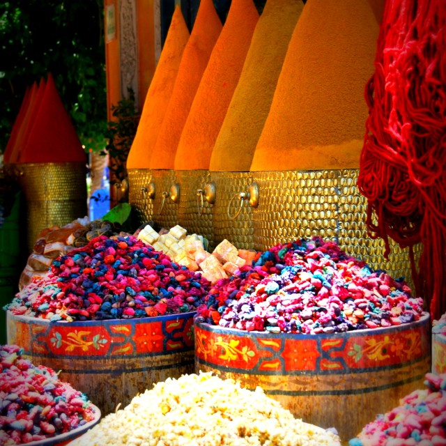 """""""The spice of Morocco"""" stock image"""