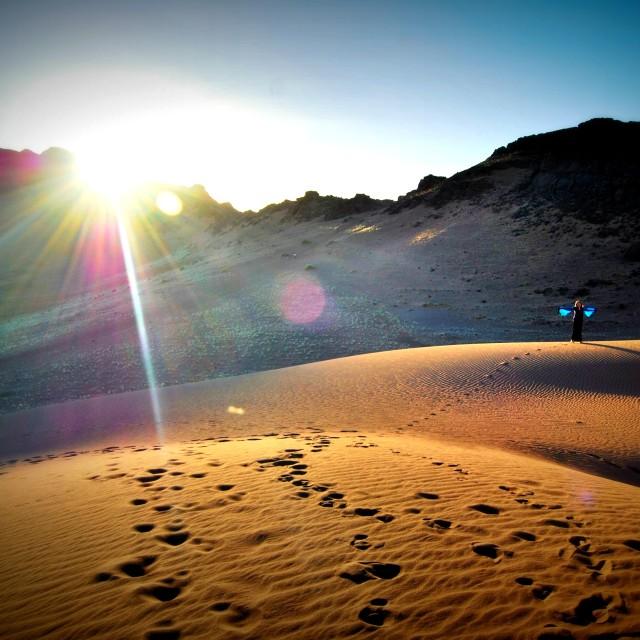 """""""Sunrise in the desert"""" stock image"""