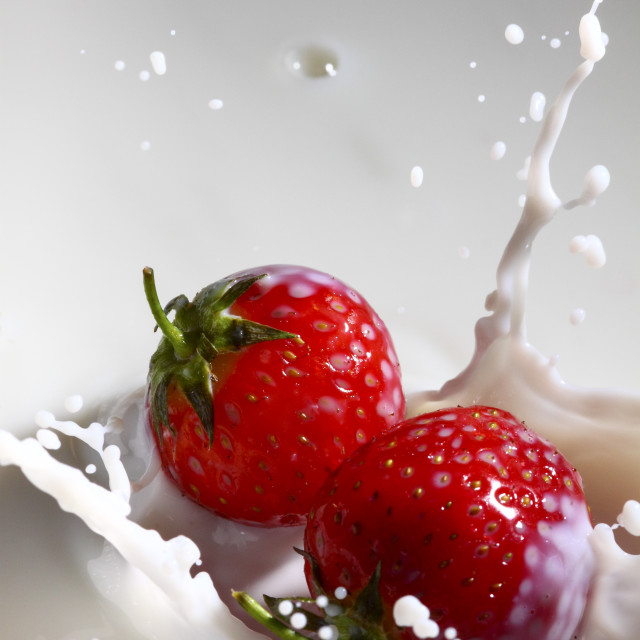 """Strawberry splash"" stock image"