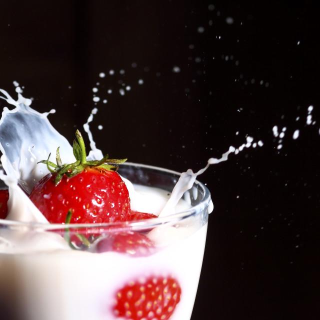 """Strawberry splash"" stock image"