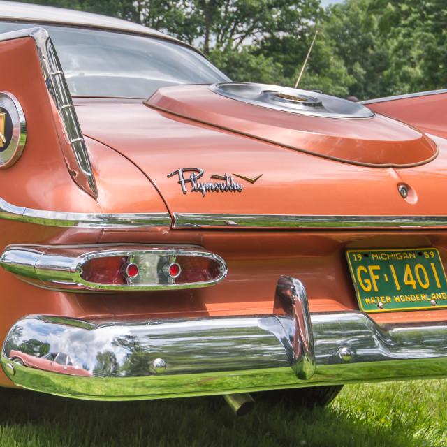 """1959 Plymouth Sport Fury"" stock image"